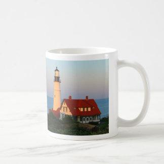 Portland Head Lighthouse Basic White Mug