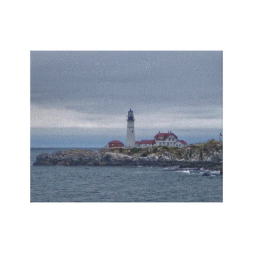 Portland Head Lighthouse Stretched Canvas Print