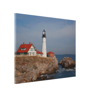 Portland Head Lighthouse Stretched Canvas Prints