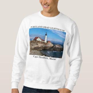Portland Head Lighthouse, Cape Elizabeth Maine Pullover Sweatshirts