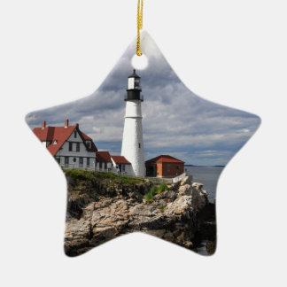Portland Head Lighthouse Ceramic Star Decoration