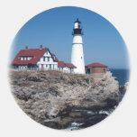 Portland Head Lighthouse Classic Round Sticker