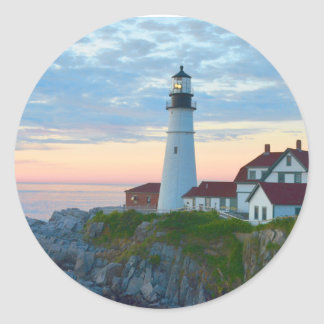 Portland Head Lighthouse Classic Round Sticker