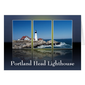 Portland Head Lighthouse Cut Up Greeting Card