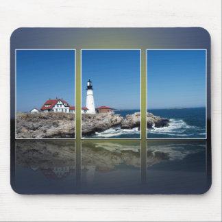 Portland Head Lighthouse Cut Up Mouse Pad