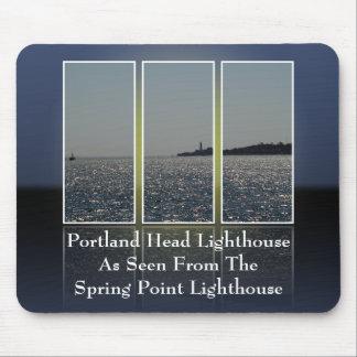 Portland Head Lighthouse Cut Up v2 Mouse Pads