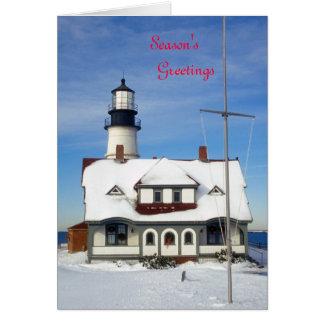 Portland Head Lighthouse Holiday Greeting Card