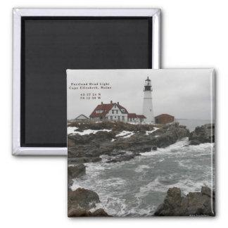 Portland Head Lighthouse-Magnet Square Magnet