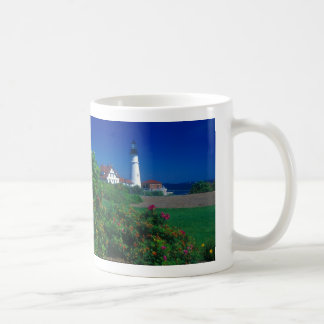 Portland Head Lighthouse Maine Basic White Mug