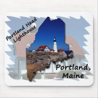 Portland Head Lighthouse Maine Silhouette Mouse Pad