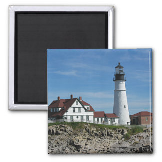 Portland Head Lighthouse, Maine Square Magnet