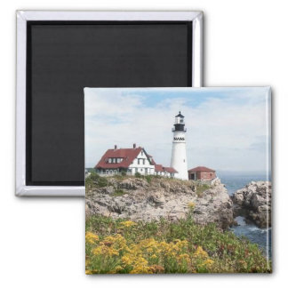 PORTLAND HEAD LIGHTHOUSE, MAINE SQUARE MAGNET