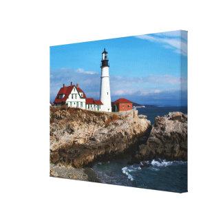 Portland Head Lighthouse, Maine Stretched Canvas Prints