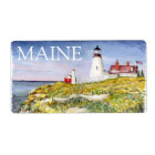 Portland Head Lighthouse Maine Watercolor Painting