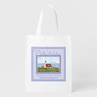 PORTLAND HEAD LIGHTHOUSE Reusable Bag BY BONHOVEY