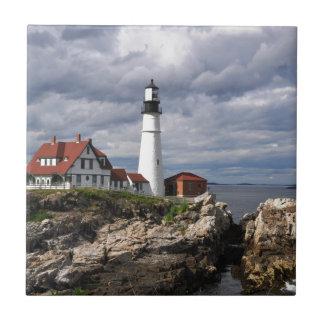 Portland Head Lighthouse Small Square Tile