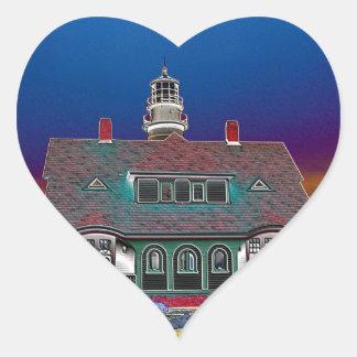 Portland Head Lighthouse Heart Stickers