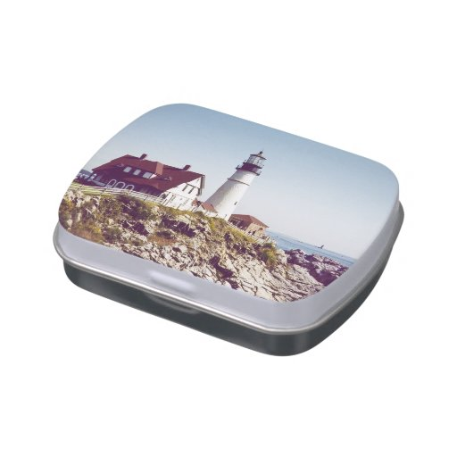 Portland Head Lighthouse Jelly Belly Tin