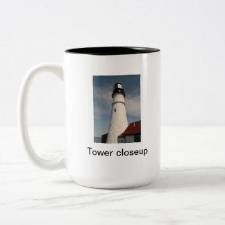 Portland Head lighthouse Two-Tone Mug