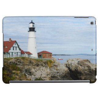 Portland Headlight lighthouse on rocky shore Case For iPad Air