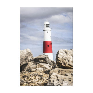 Portland Island Lighthouse Dorset England Canvas Print