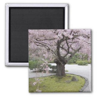 Portland Japanese Gardern, Portland, Oregon, Square Magnet