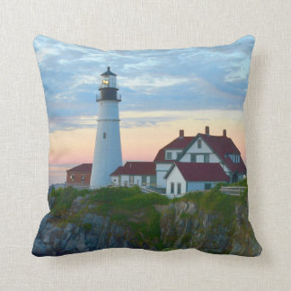 Portland Lighthouse at sunrise Cushion