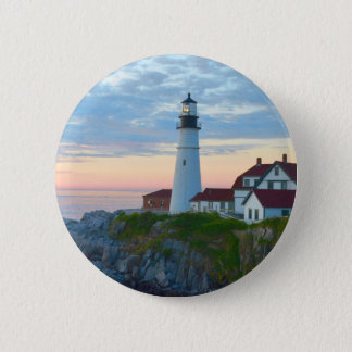Portland Lighthouse Button