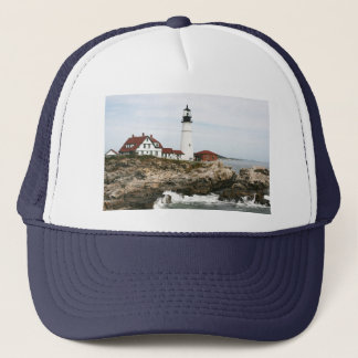 Portland lighthouse trucker hat
