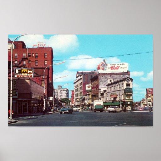 Portland maine congress square circa 1963 poster zazzle for Bjs portland maine