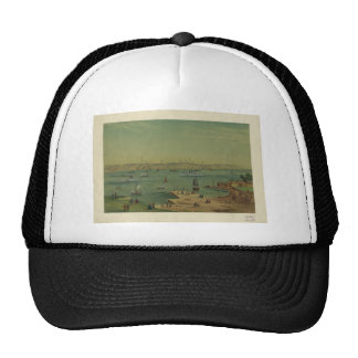 Portland Maine Harbor in 1854 by W. S. Hatton Hat