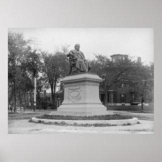 Portland, Maine Longfellow Monument circa 1890 Poster