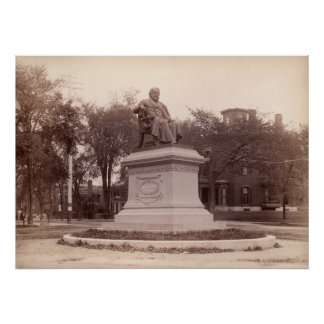 Portland, Maine Longfellow Monument circa 1890 Print