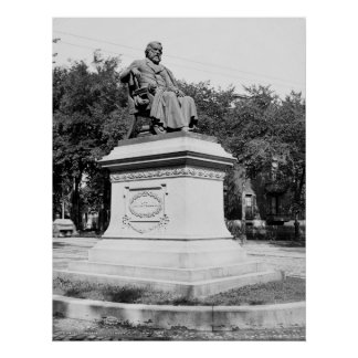 Portland, Maine Longfellow Monument circa 1900 Posters