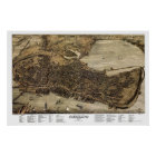 Portland, Maine Panoramic Map - 1876 Poster