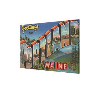 Portland, Maine (River Scene) Canvas Prints