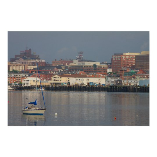 Portland Maine waterfront Poster