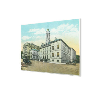 Portland, MaineExterior View of City Hall Canvas Print
