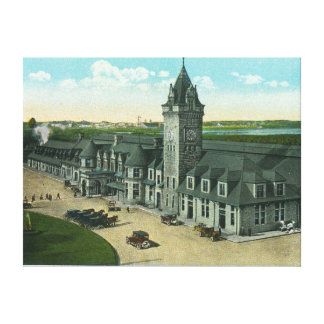 Portland, MaineExterior View of Union Station Canvas Print