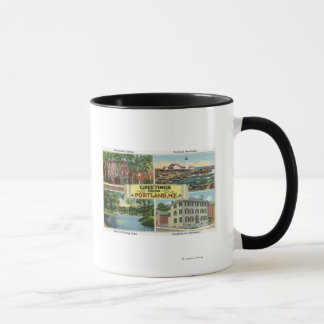 Portland, MaineGreetings From with Scenic Mug