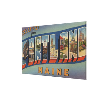Portland, MaineLarge Letter Scenes Canvas Print