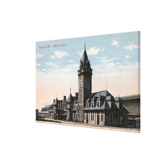 Portland, MaineUnion Station Railroad View Canvas Print