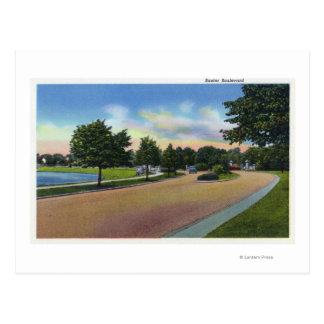 Portland, MaineView of Baxter Boulevard Postcard