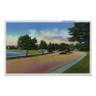 Portland, MaineView of Baxter Boulevard Poster