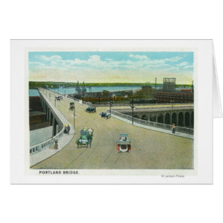 Portland, MaineView of the Longfellow Monument Greeting Card