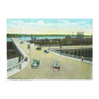 Portland, MaineView of the Longfellow Monument Stretched Canvas Prints