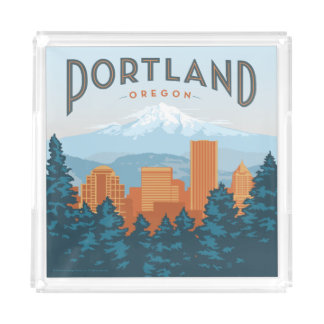 Portland, OR Acrylic Tray
