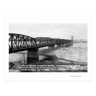 Portland, OR Pacific Highway Interstate Bridge Postcard