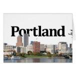 Portland OR Skyline with Portland in the Sky Card