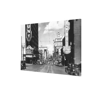 Portland, OR View of Broadway Looking North Canvas Print